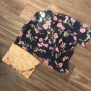Vintage Retro Floral Silk Cotton Popover